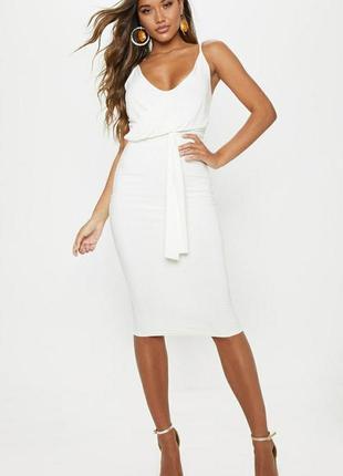 Платье по фигуре миди длины p.xs