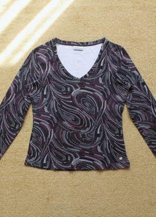 Кофта пуловер лонгслив топ футболка блуза блузка кофточка принт хлопок натуральная