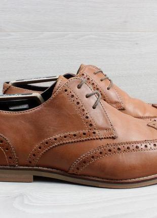 Кожаные туфли броги lambretta, размер 43