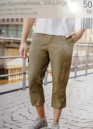 Длинные мужские шорты за колено карго болотный зеленый
