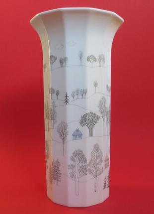 Винтажная дизайнерская фарфоровая ваза rosenthal studio line порцеляна фарфор немецкий