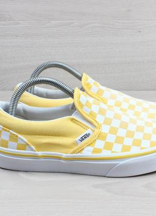 Желтые слипоны  / кеды vans оригинал, размер 35