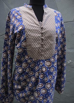 Коттоновая  блуза с длинным рукавом