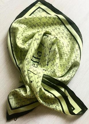 Шелковый платок-косынка.47*50.