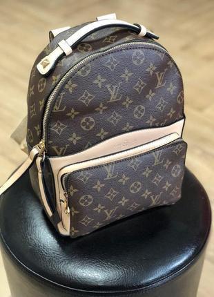 Рюкзак женский louis vuitton, коричневый (луи виттон, витон, сумка, ранец, сумочка, клатч)