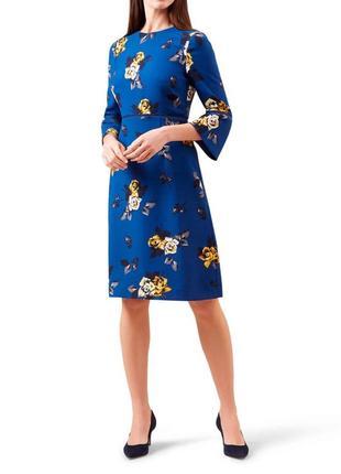 Платье с принтом чайной розы