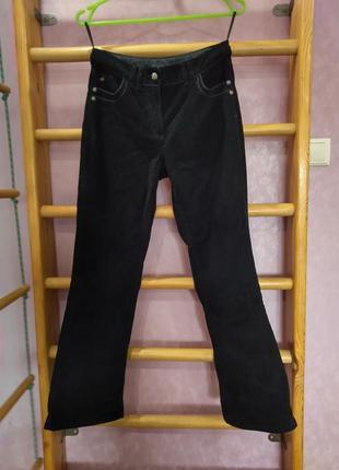 Вельветовые штаны на высокой талии