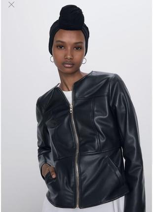 Куртка з еко шкіри zara