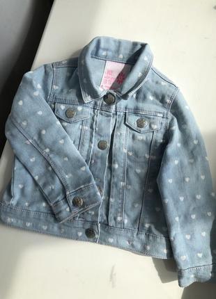 Джинсовий піджак на дівчинку 1,5 - 2 роки