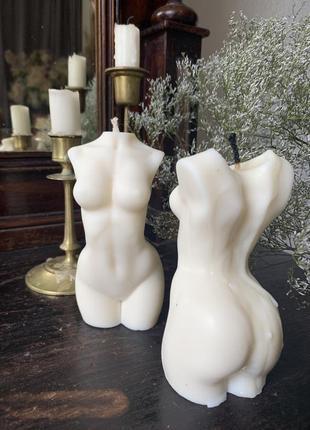 Свеча из натурального соевого воска - «тело женщины»