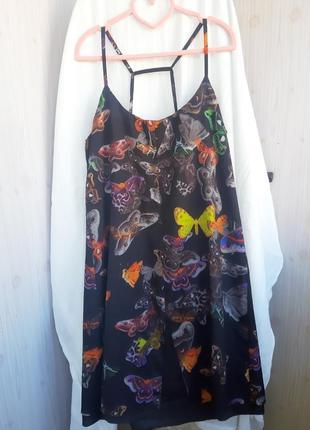 Красивое новое платье с бабочками topshop размер xs