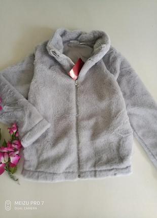 Тепленькая плюшевая куртка шубка от немецкого бренда pepperts 140, 9-10