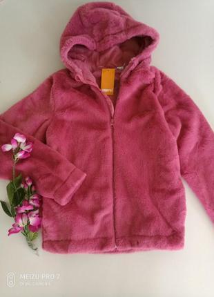 Тепленькая плюшевая куртка шубка от немецкого бренда pepperts 152, 11-12