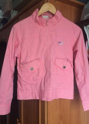 Летний котоновый пиджак на подкладке