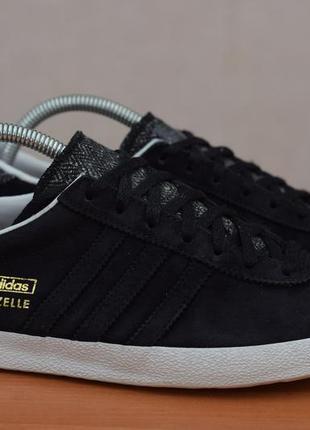 Черные кеды, кроссовки adidas gazelle, 40 размер. оригинал