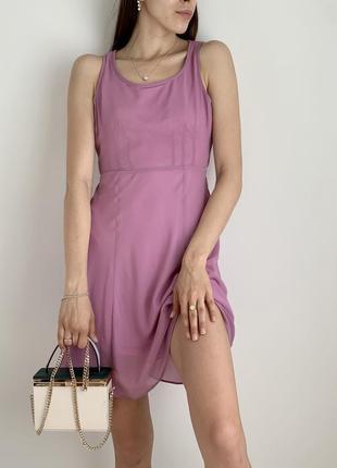 Плаття міні фіолетове