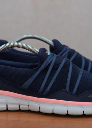 Синие мягкие кроссовки, слипоны, кеды skechers с удобной стелькой, 40 размер. оригинал