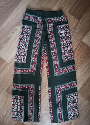 Широкие брюки zara с высокой посадкой