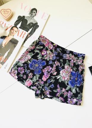 Прекрасные трендовые цветочные шорты на резинке с карманами new look