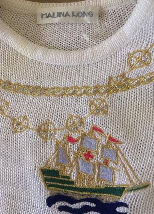 Malina wong  роскошно красивый винтажный свитер