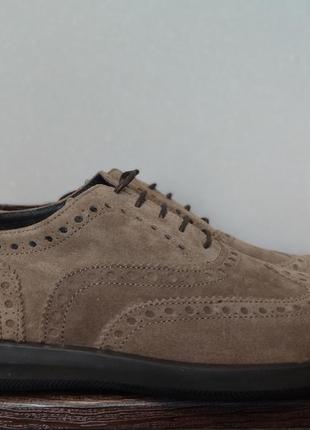 Туфли брогги замшевые мужские итальянского бренда ferri