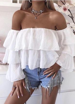 Блузка топ воланы