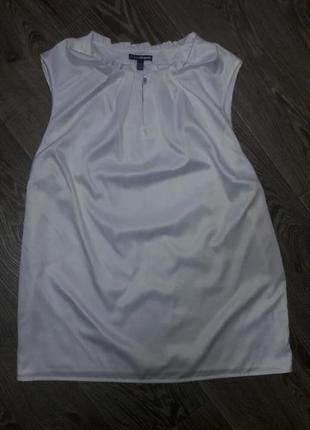 Нарядная белая блуза без рукавов❤