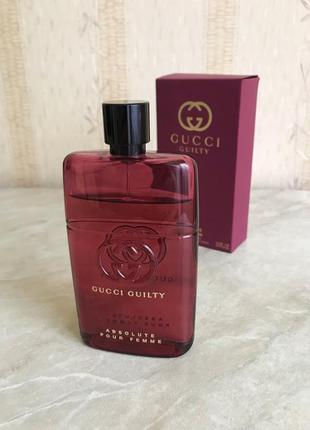 Оригинал gucci guilty absolute pour femme 90ml eau de parfum