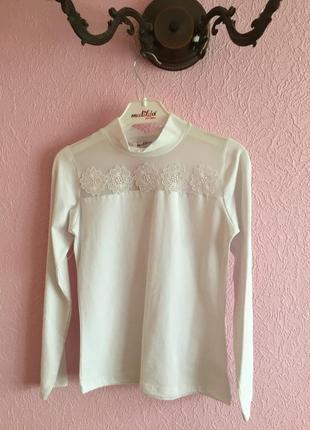 Нарядная трикотажная блуза для девочки на рост 122-128,134-140;