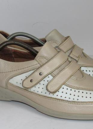 Medicus кожаные удобные туфли-кроссовки 7р ст.26,5см c5