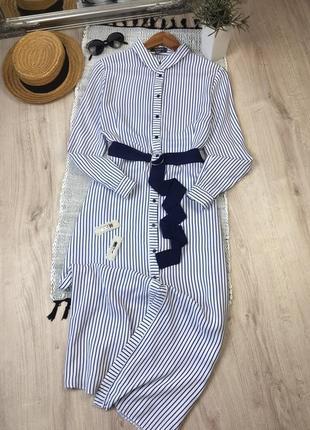 Чудесное платье рубашка миди