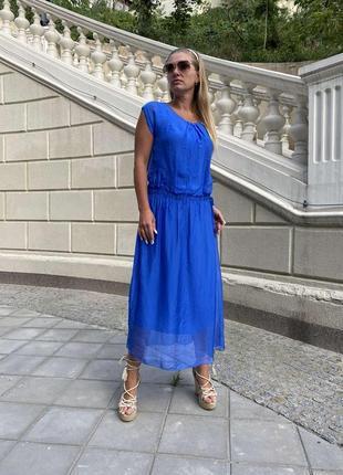 Шикарное нарядное летнее платье италия шелк