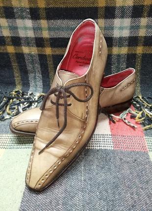 Туфли cordwainer кожаные made in italy