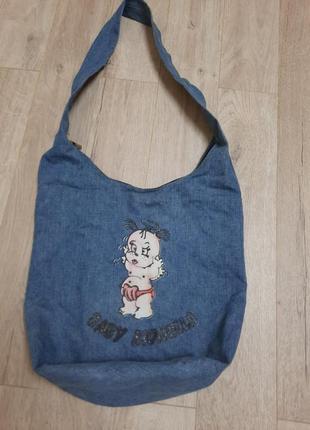 Джинсовая сумка1 фото