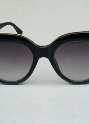 Fendi очки женские солнцезащитные черные с градиентом2 фото