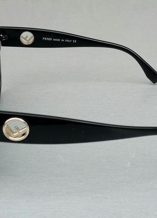 Fendi очки женские солнцезащитные черные с градиентом3 фото