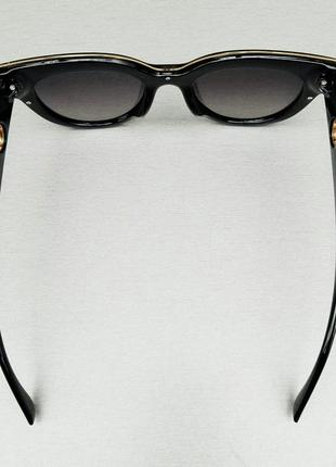 Fendi очки женские солнцезащитные черные с градиентом7 фото