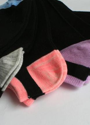 Носки низкие черные  поштучно и комплектом primark