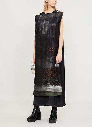Quetsche дизайнерское шелковое платье трансформер