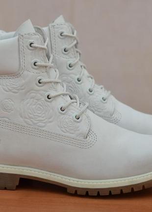 Серые демисезонные ботинки, сапоги из нубука timberland, 39 размер. оригинал