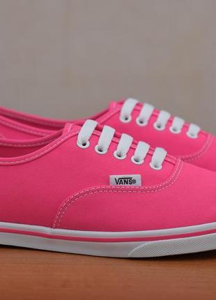 Яркие розовые кеды, кроссовки vans, 39 размер. оригинал