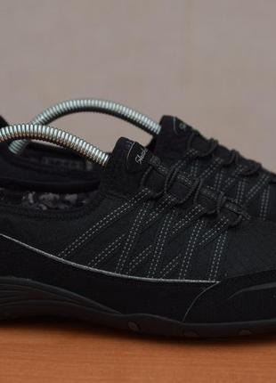 Черные кроссовки, кеды на резинках skechers, 40-41 размер. оригинал