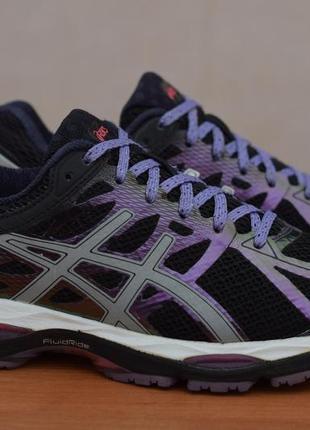 Черные беговые кроссовки с фиолетовыми вставками asics gel-cumulus 17, 39 размер. оригинал