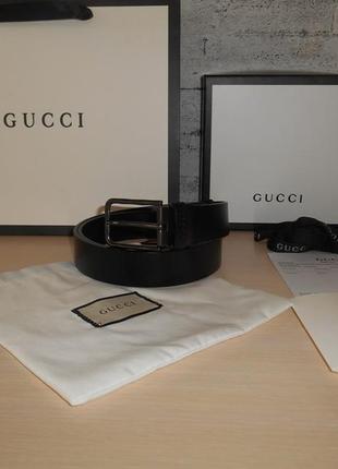 Ремень пояс женский gucci кожа, италия, оригинал