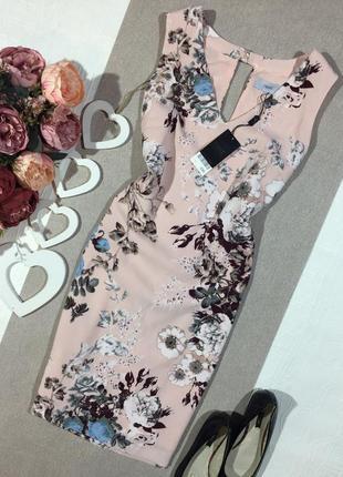 Новое! шикарное платье в цветочный принт.