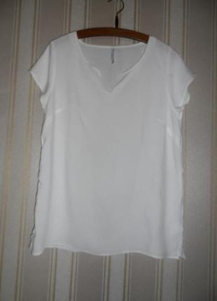 Топ  короткий рукав / блуза / размер 40 // l вискоза