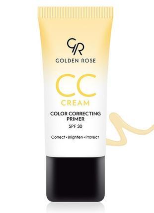 Праймер-корректор цветной golden rose cc cream color correcting primer yellow
