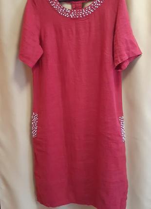 Очень красивое платье лён