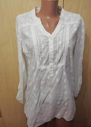 Блузка белая m&s