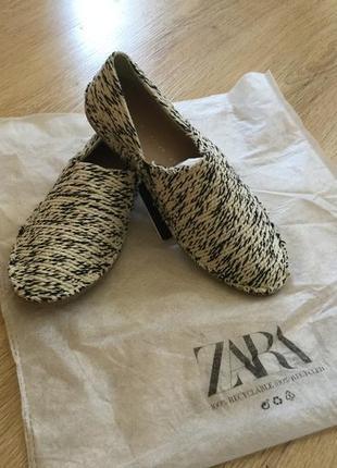Балетки мокасины zara зара, р37 (24см)